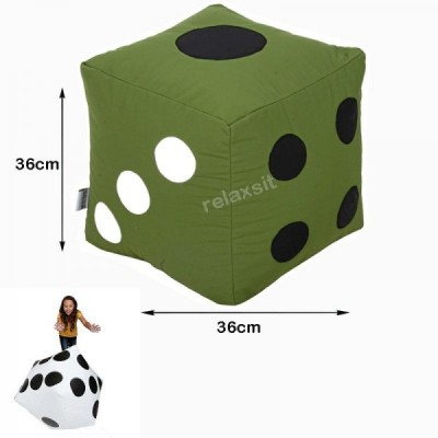 Ludo Dice Stool Bean Bag - Green