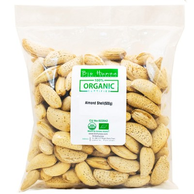 Almond With Shell - 500 Gm