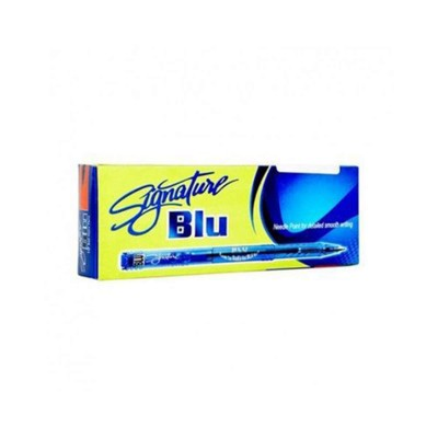 Pack of 10 Blue Needle Ball Point - Blue