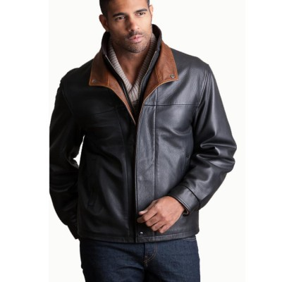Black Executive Lambskin Leather Jacket