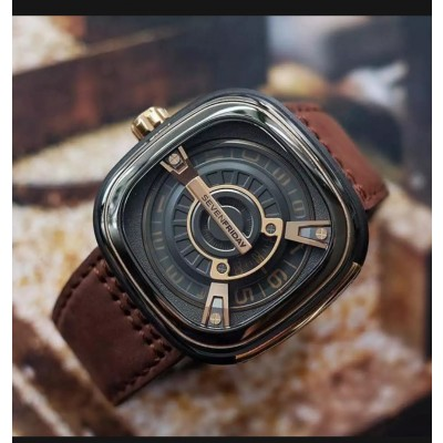 Seven Friday Brown Leather Strap Watch