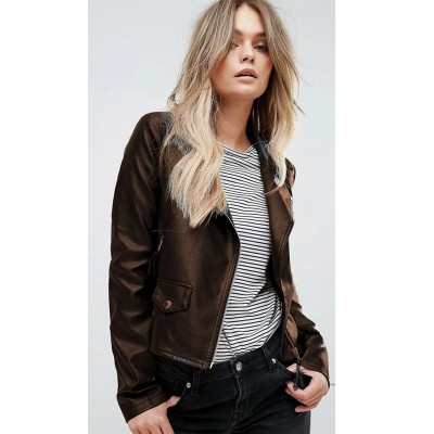 High street Brown Faux Leather Jacket