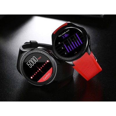 Microwear L1 Smartwatch Phone 1.3 Inch Heart Rate Measurement J3 Red Strap