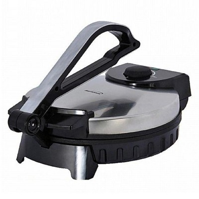 Roti Maker Stainless Steel Non-Stick Electric Maker-08 Inch-Black Silver