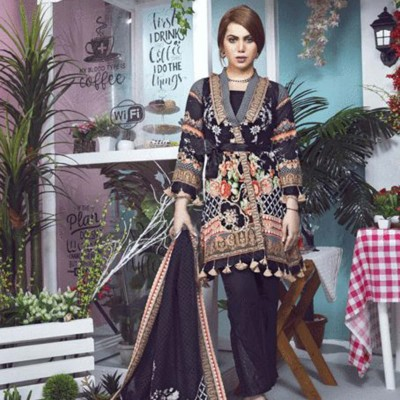 Women Summer Collection V2 Unstitched-Embroidered 3-pc Multi Lawn Suit  KLA-9042