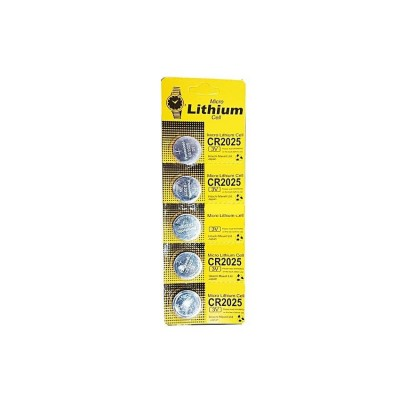 5 Piece Cr2025 Lithium Battery 3V