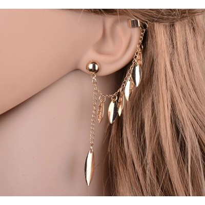 Pair of Ear Cuff- Gold Plated