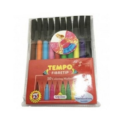 Pack of 10 Colour Marker MULTI COLOUR