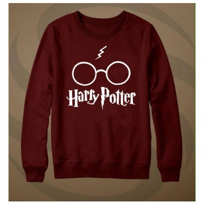Harry Potter Printed Maroon Sweat Shirt for Men & Women Unisex