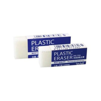 PACK OF 6- ERASER DELI 7536