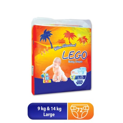 Lego Diaper Mega Pack Large 72 Pcs