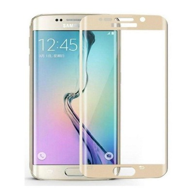 Tempered Glass Screen Protector for Samsung Galaxy S6 Edge - Gold