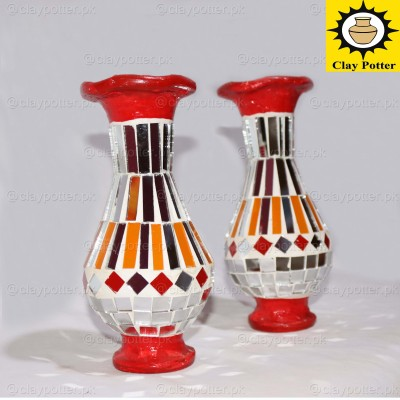 Glass Clay Follow Vases