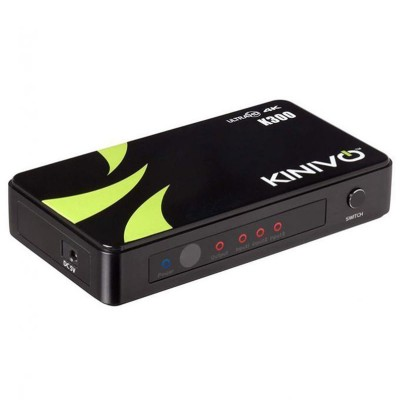 K300 Premium 3-4K HDMI Switch with Wireless Remote & AC Power Adapter-Black
