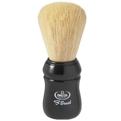 Omega S10049 S-Brush Pro Synthetic Shaving Brush-Black