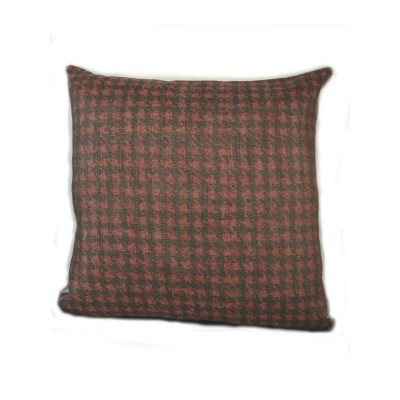 Hound'S Tooth Red Cushion