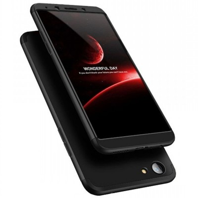 Oppo F7 360 Case with Glass Protector - Black