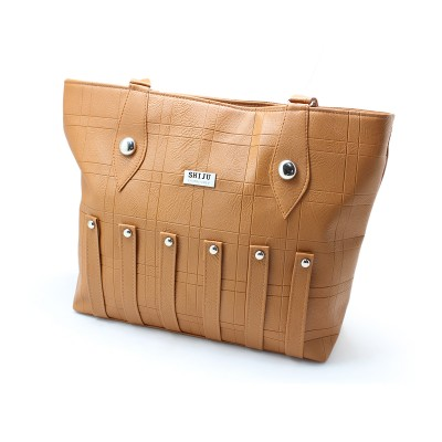 Light Brown Color Artificial Leather Hand Bag for Girls BG-193