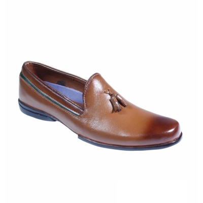 Brown Formal Leather shoes-L1021C