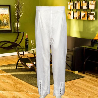 Off White Capri Trouser With Beats On The Front and Sides