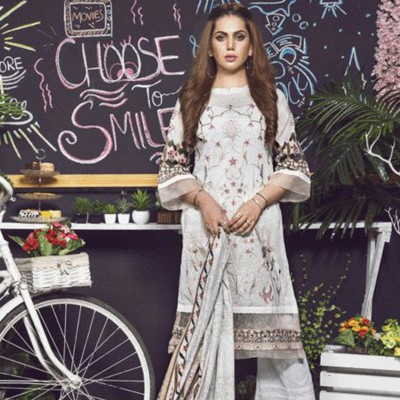Women Summer Collection V2 Unstitched-Embroidered 3-pc Multi Lawn Suit  KL-4070