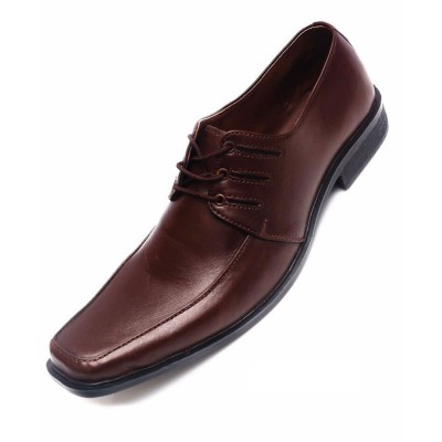 Brown Formal Leather shoes-L1046C