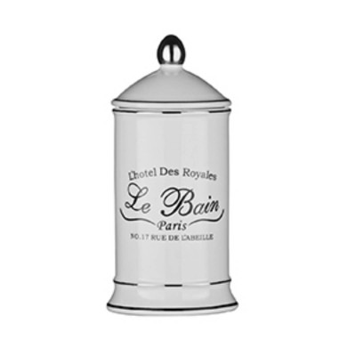 Le Bain Cotton Bud Jar