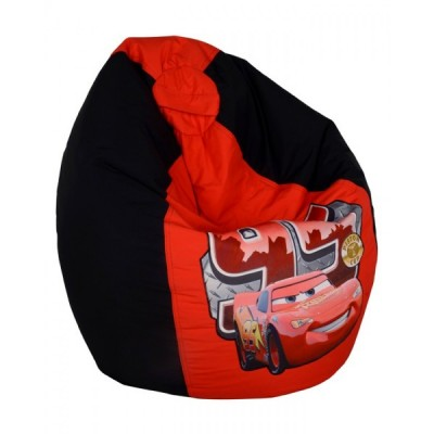 Disney 95 Car Toddler Bean Bag Chair-Red Black