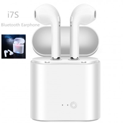 i7S TWS Wireless Twins Bluetooth Airpods with Charging Dock -