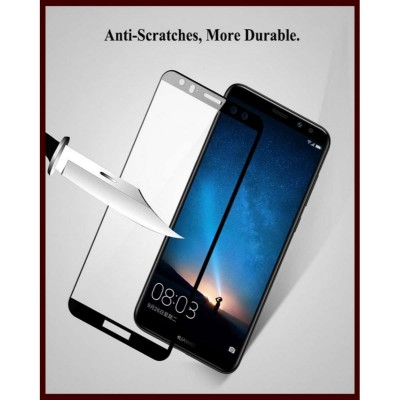 Huawei Mate 10 Lite 3D Glass Protector Full Edges Cover-Black-
