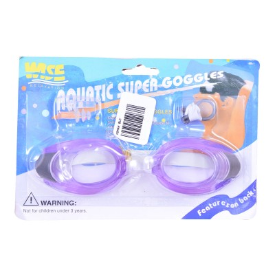 Swimming Goggles For Kids With Ear And Nose Plugs Purple