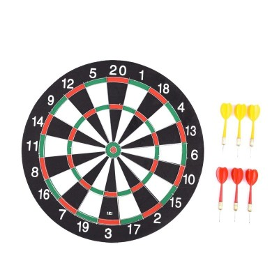6 Darts Darts Board Sports Exercise Double Sided Bullseye Target Game