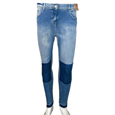 Dark Blue Stretch Skinny Knees-BM-337