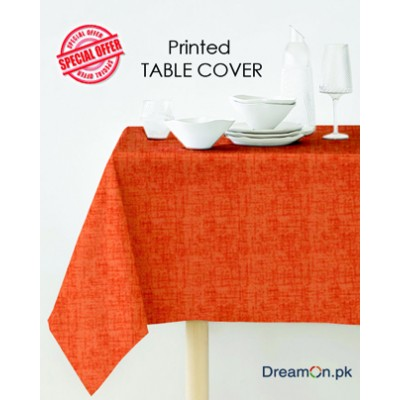 Plain Orange Color Table Cover Duck Fabric