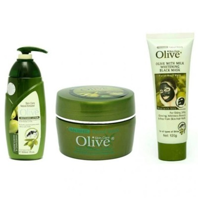 Pack of 3-Olive Beauty Care Products-Green
