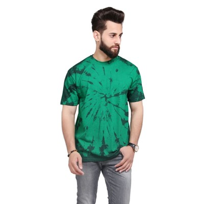 Green Tie Dye Tsirt For Men