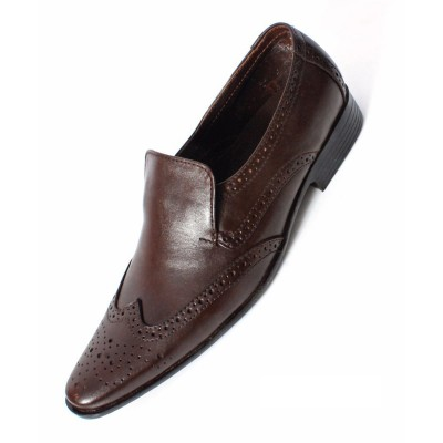 Brown Formal Leather shoes-L1040C
