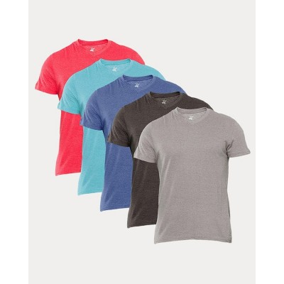 Pack of 5 - Multicolor Cotton Tshirts For Men