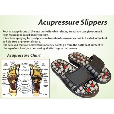 Foot Reflex Massage Acupuncture Healthy Slippers Shoes Massager