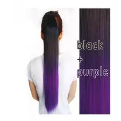 Clip In Straight Synthetic Hair Extensions - 24 Inch