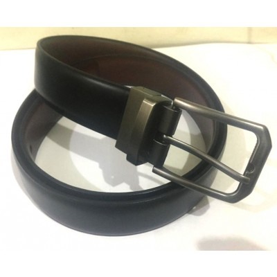 Rubian Double Sided Interchangeable Shiny Material Belt For Men