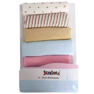 Juniors Pack Of 7 Wash Clothes For Newborns 9X9 Inch Multicolor