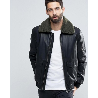 Black Faux Leather High street Jacket
