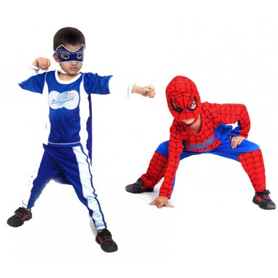 Pack of 2 Commander Safeguard & Spider-Man Costumes