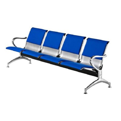 Blue And Silver 4 Seater Reception Bench
