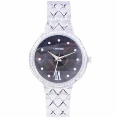 Stainless Steel Check Dial Casual Formal Party Gift Watch for Women - Silver