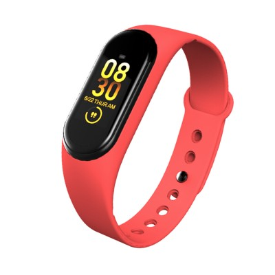 Red M4 Smart Band Wristband Heart Rate Blood Pressure Monitor