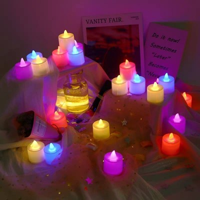 Pack Of 24 Flameless Multi Led Candles