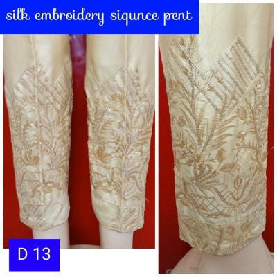 Silk Embroidered Pant