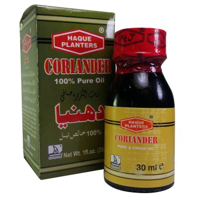Coriander Seed Oil 30ml by Haque Planters (Dhaniye Ka Tel)